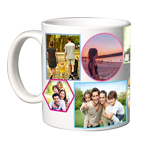 Tazza in Ceramica Personalizzabile con Foto Collage (Multicolor)