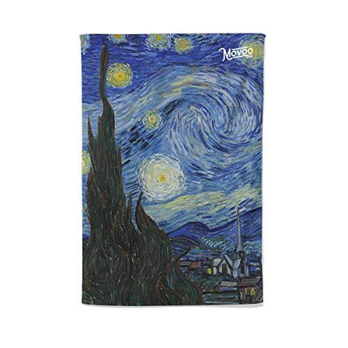 telo mare van gogh Movoo Design Telo Mare in Microfibra - Notte Stellata di Van Gogh 100x150cm