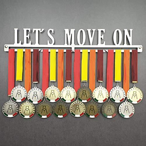 Let's Move on - Porte-Médaille Mural - Médaille Cintre Sportives - Sport Medal Hanger - Display Rack (750 mm x 115 mm x 3 mm)
