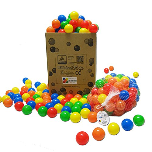 koenig-tom 200 Bälle ( Tüv geprüft und Zertifiziert 2019 ) Bällebad Babybälle Plastikbälle Kinderbälle