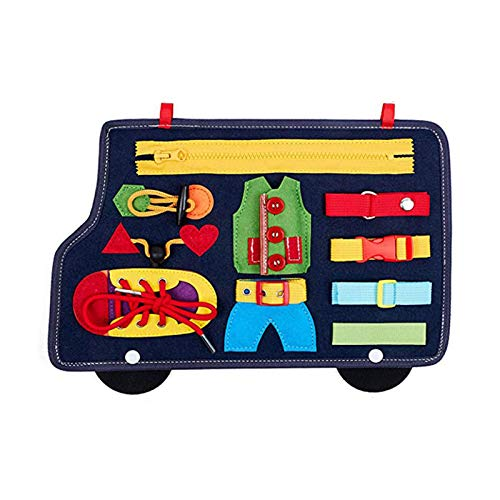 GUMEI - Juguete Montessori para niños pequeños, educación para bebés, Habilidades básicas, Actividad, Tablero Ocupado