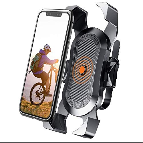 LTHTX Bike Phone Mount Anti Shake 360 Rotation for Mountain Bike, Motorcycle Handlebar, for Cell Phone, iPhone 11, X/XR/XS MAX, Samsung and Most 4-6.8 inch Smartphone