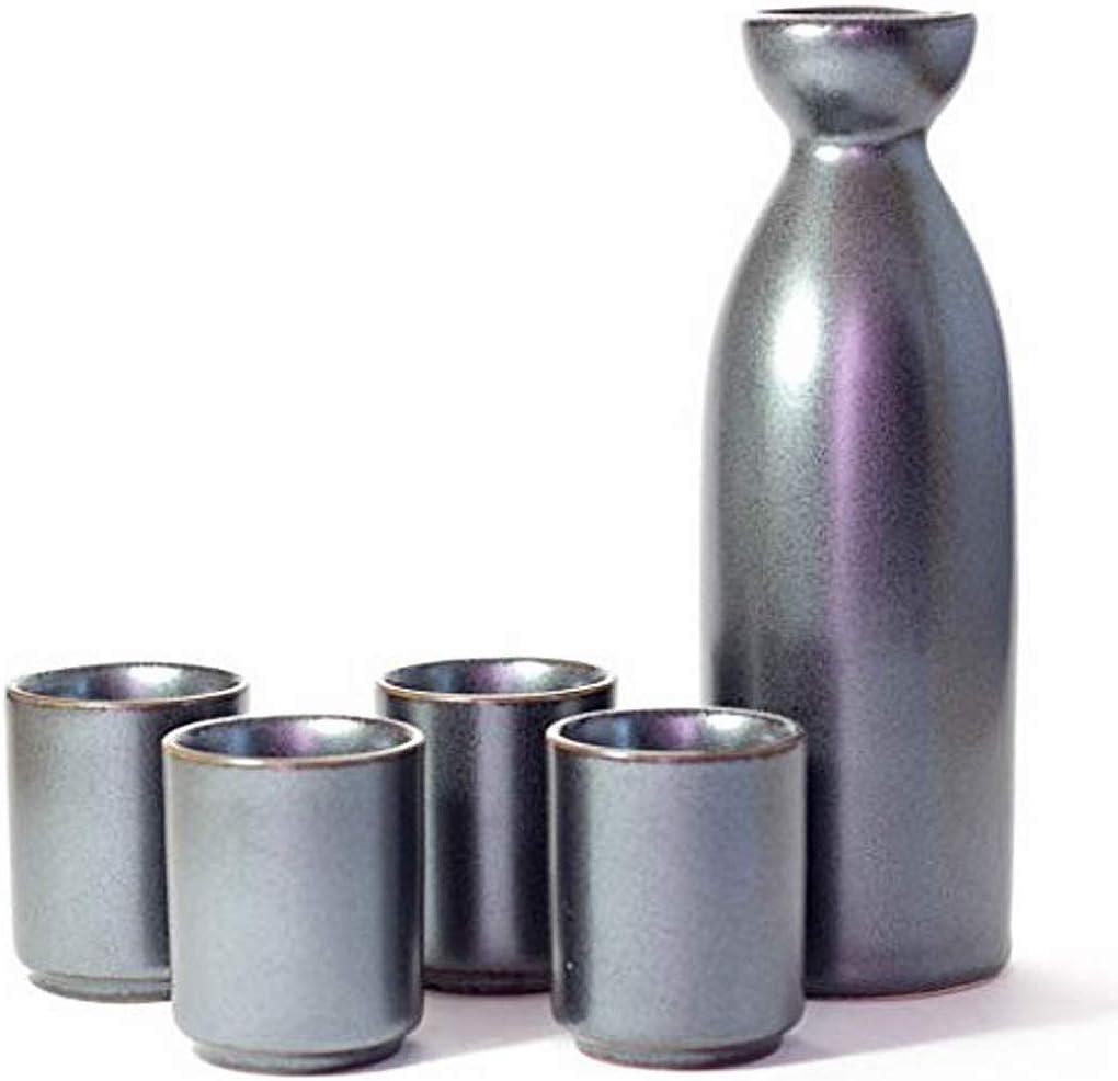 Happy Sales HSSK-5MTGR Perfect 5 Design Japanese Seasonal Wrap Introduction Sak pc NEW before selling Ceramic