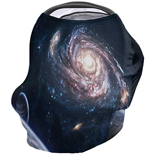 Affordable Baby Car Seat Nursing Cover for Breastfeeding Scarf, Outer Space, Ultra Soft Breastfeedin...