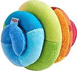 HABA 305090, Stoffball Spirale, Stoffspielzeug mit Rassel-Effekt, farbenfroher Ball für Babys ab 6...
