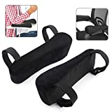 Chair Armrest Pads Foam Memory Foam Comfortable Elbow Pillows for Office Chair Arm Support Forearm Pressure Relief Universal Chair Arm Cover, 2 Piece Set