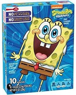 Spongebob Squarepants Fruit Flavored Snacks 8 oz (Pack of 4)