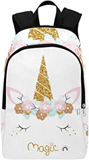 White Wreath Decoration Casual Daypack Travel Bag College School Backpack for Mens and Women Schoolbags & Backpacks School Bags, Pencil Cases & Sets