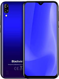 Mobile phone A60, 1GB+16GB, Dual Rear Cameras, 4080mAh Battery, 6.1 inch Android 8.1 GO MTK6580A Quad Core up to 1.3GHz, Network: 3G, Dual SIM(Black) taizhan (Color : Gradient Blue)