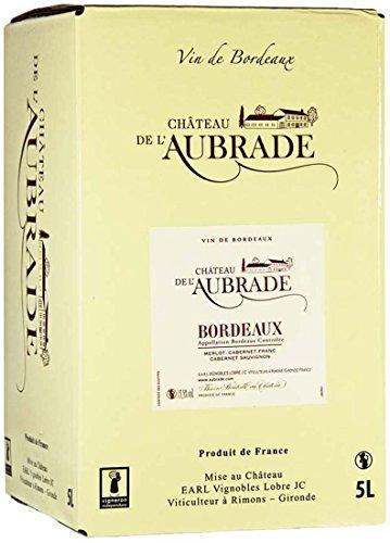 Château de l´Aubrade A.O.C. Bordeaux Rouge Bag-in-Box Rotwein trocken (1 x 5,0l)