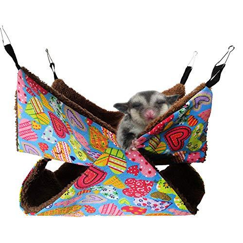 Oncpcare - Hamaca para mascotas, hamaca de azúcar en la litera, jaula de cobayas, accesorios de cama, acogedora cama para animales pequeños, para chinchilla, loro y azúcar, hurón, ardilla, hámster
