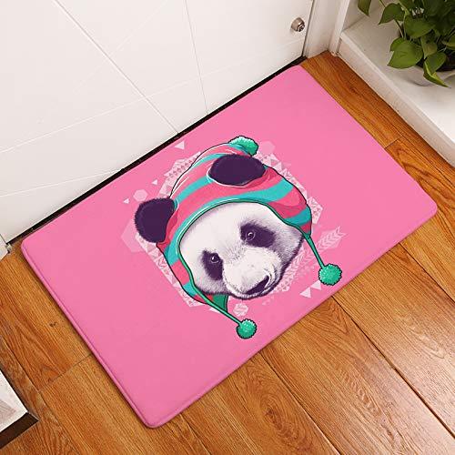 XuJinzisa Alfombrillas De Panda De Dibujos Animados, Alfombrillas De Entrada De Franela Impresas En 3D, Alfombras De Baño Antideslizantes, Alfombrillas De Cocina 60X90 Cm C11738