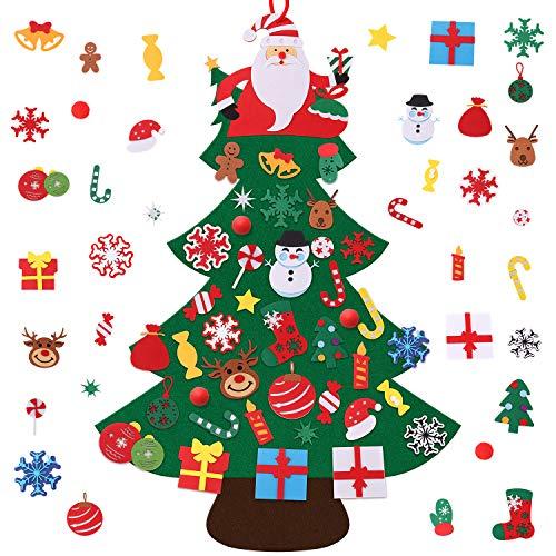 Gosear Fai Sentito Natale Albero Decorazione Natale Partito Parete Appeso Ornamento per Bambini Regalo Casa Ufficio Negozio Finestra Decor (120 x 83 cm)