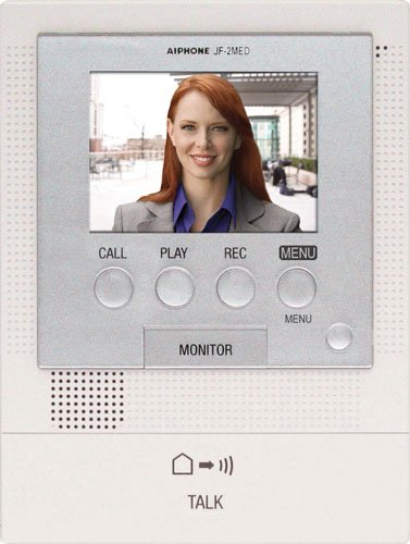Aiphone JF-2MED Master Station for JF Series Audio/Video Intercom System, For Up to Two Door and Two Sub-Master Stations Color Sub Master Station