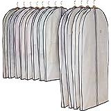 アストロ 洋服カバー マチ付 12枚 スーツサイズ 不織布 ファスナー 透明窓 防虫剤ポケット付き 底までカバー 110-44
