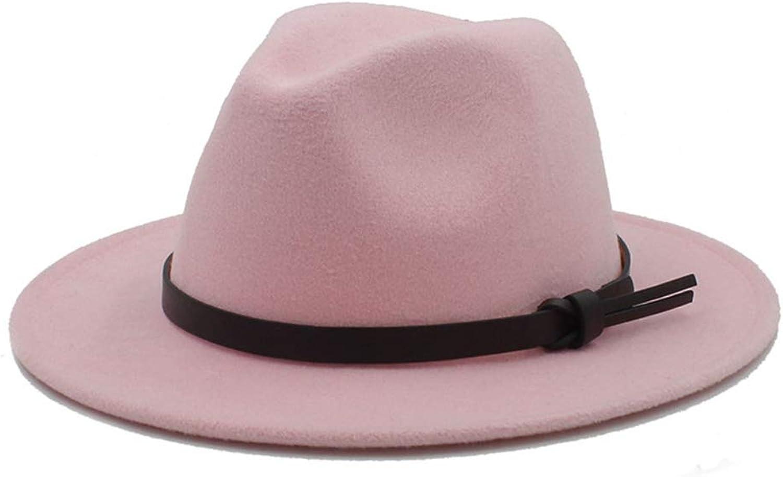 7a278484edc8ea WONNA Unisex Wool Wool Wool Vintage Wide Brim Fedora Hat Gentleman Gangster Trilby  Hat Vintage Jazz Caps 537c2a