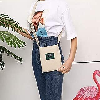 Fashion Single-Shoulder Bags Leisure Fashion Canvas Slant Shoulder Handbag(Grey) (Color : Grey)