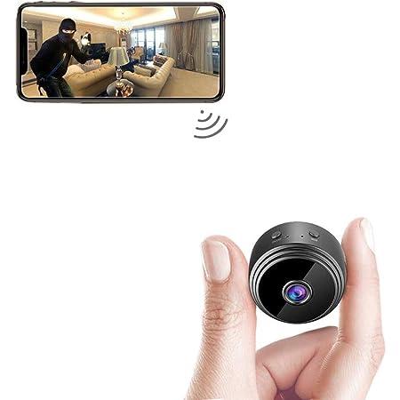 Mini Camera Espion Caché Enregistreur Petite,Mini Caméra Cachée sans Fil de Surveillance de Sécurité Bébé Full HD 1080P,Hidden Micro Caméra Intérieure/Extérieure