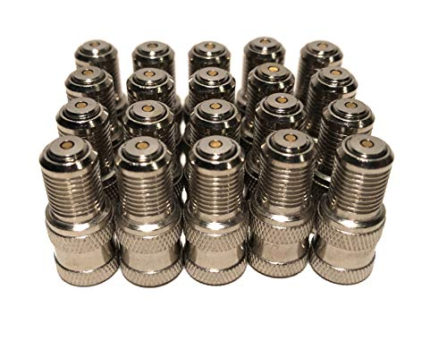 KEX Pack of 20 Double Seal Inflate Through Type Valve caps for Trucks, RV and Semi's