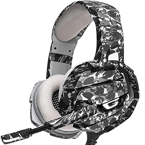 PS4 Headset PC Gaming Headset - Auch für Nintendo Switch & Laptop, 3.5mm Noise Cancelling Gaming Kopfhörer Xbox One mit Mikrofon, Surround Sound System