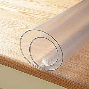 Desk Pad Mat PVC Table Pad for Writing Desk Rectangular Plastic Table Top Protector Coffee Table Countertop LovePads 2mm Thick 24 x 96 Inches Clear Table Cover Protector