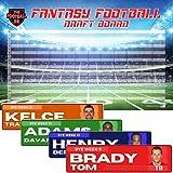 Jumbo Fantasy Football Draft Board 2021 Kit - 4'x1' Color Rush Labels & Big Draft Board