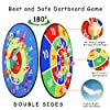 TOMYOU Dart Board for Kids - 26 inchs, Double Sided Dinosaur Themed Board Games with 16 Sticky Balls, Hooks, Christmas or Birthday Toy Gift for Boys Girls Age 5 6 7 8 9 10 11 12 #3