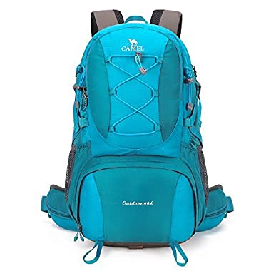 Camel 40L Lightweight Durable Outdoor Backpack Hiking Backpack Camping Backpack sport Backpack (Blue)