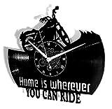 Instant Karma Clocks Orologio da Parete Moto Motociclista Rider, Idea Regalo, Vintage, Handmade