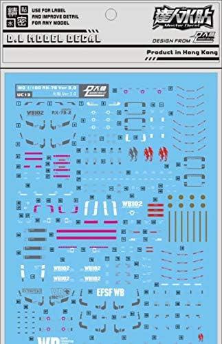 Detail Up 1//35 Scale RX-78-2 GUNDAM Head Model Kit Water Slide Decal