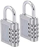 Techtest Bag Lock Combination Number Locks for Door Password Key Home Digital Finger