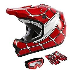 WOW Youth Kids Motocross BMX MX ATV Dirt Bike Helmet
