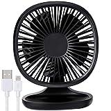 AYOUYA Desk Fan USB Fan Strong Wind Cooling Fan with Adjustable Head, 3 Speeds, Mini Size Desktop Fan Table Fan Computer Fan for Home Office Outdoor Travel (Black)