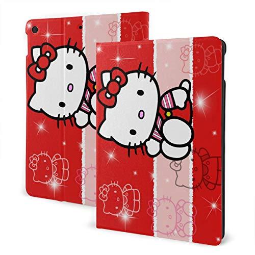 Hello Kitty - Funda de piel con función atril y reposo automático, diseño de gato, color rojo