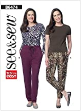 McCalls-75... McCalls Ladies Easy Sewing Pattern 7576 Elastic Waist Loose Pants