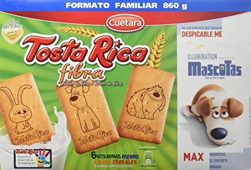 Tosta Rica Fibra Caja de Galletas, 860g