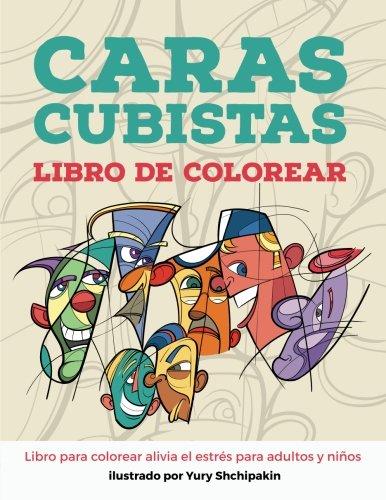 Caras cubistas libro de colorear