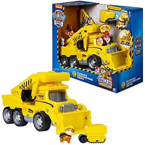 PAW PATROL Ultimate Construction Rescue-Camión de construcción, color amarillo (Spin Master 6046466) , color/modelo surtido