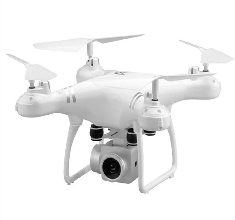 TQ Unbemanntes Luftfahrzeug, 30 Minuten Langstrecken Hochfliegende Vier-Achsen-Flugzeuge, 1080P, 500W HD Pixel Fernbedienung Luft Drohne,Weiß