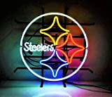 Urby 24'x20' Pittsburgh Sports Teams Steeler Handmade Real Glass Neon Sign (MultipleSizes) Beer Bar Light Handicraft U107