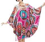 DFJU Camisón para Mujer Pijamas de Servicio a Domicilio Informal Camisón Vestido Largo Confort de Verano Suave y Suave Tiene un cinturón, Puede Ajustar la tensión (Color: Rojo)