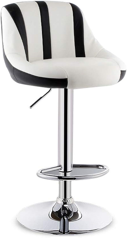 Barstools Chair Lift Bar Stool Bar Chair High Stool Home Modern Minimalist Style Stool Kitchen Breakfast Chair Leather Cushion Backrest