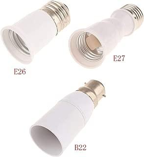 FidgetKute 1//5//10Pcs 65mm E27 to E27 Socket Extension Base Bulb Adapter Converter Holder 10Pcs One Size