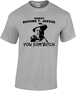Fat Duck Tees Smokey and The Bandit Sheriff Buford T Justice T Shirt Funny Quote