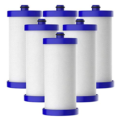 AQUACREST WF1CB Refrigerator Water Filter, Compatible with Frigidaire PureSource WFCB, RG100, NGRG2000, WF284, Kenmore 9910, 469906, 469910 (Pack of 6)