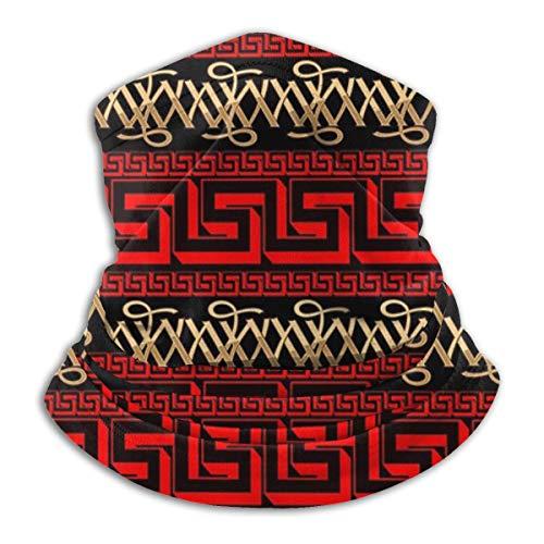 popluck Davis-Lee Pattern - Versace-Majestic-World-Red-Beige-Camel-by Mamartin Unisex Multifunctional Face Clothing Neck Gaiter Mask – Light Breathable for Sun Wind Dust Bandana Headwear
