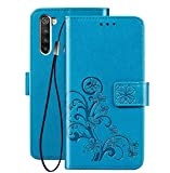 FANFO® Coque pour Xiaomi Redmi Note 8T, Etui 3D Fleur Chanceuse, Housse PU &TPU Portefeuille en...