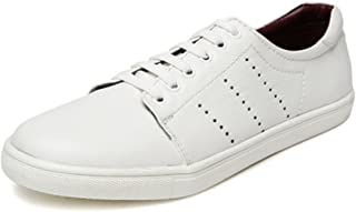 San Frissco Men's White Sneakers-9 UK/India (43 EU) (EC 4121-White-9)