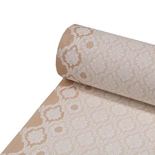 Sovie HORECA Tischläufer Mandy   Linclass® Airlaid Tischläufer 40cm x 24m   Tischdecken-Rolle stoffähnlich   Einmal-Tischdecke für Hochzeit & Partys   Hellbraun