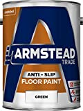 Armstead Trade Anti-Slip Floor Paint Anti Slip Floor Paint 5 L - Pinturas de pared para interior (Pintura, Preparado, Concreto, Piso, Madera, Verde, Mate, 5 L)